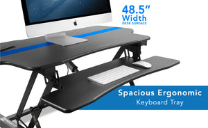 Mount-It! Electric Standing Desk Converter W/ Large Platform-MI-7962 - Mount-It!