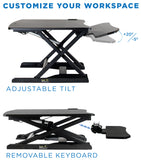Electric Standing Desk Converter with Removable Keyboard Tray| MI-7965