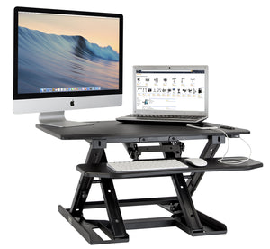 Mount-It! Electric Standing Desk Converter with Removable Keyboard Tray- MI-7965