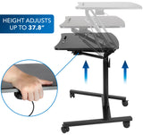 Mount-It! Mobile Standing Laptop Desk with Wheels - MI-7969 - Mount-It!