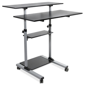 Mount-It! Height Adjustable Rolling Stand up Desk - MI-7970