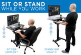 Electric Mobile Standing Desk | MI-7982