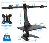 Standing Desk Converter with Triple Monitor Mount | MI-7983