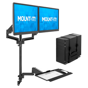 Dual Monitor Wall Mount Workstation | MI-7992