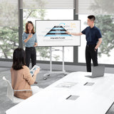 Interactive Screen Stand | Mobile TV Flip Chart with Shelf | MI-8001