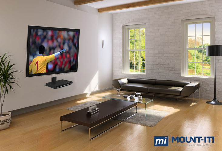 Glass A/V Component Wall Mounted Shelf | MI-801 2