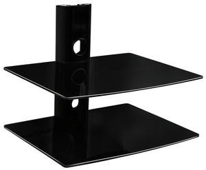 Mount-It! Dual Glass DVD/DVR/Component Wall Mount Shelf - MI-802 - Mount-It!
