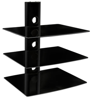 Mount-It! Triple Glass DVD/DVR/Component Wall Mount Shelf - MI-803 - Mount-It!