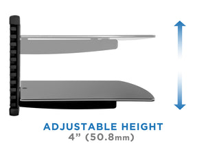 Mount-It! Floating Single Stud Wall Shelf A/V Components - MI-821 - Mount-It!
