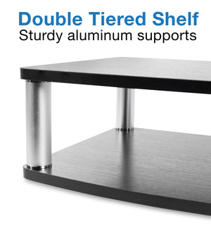 Mount-It! 2 Tier Turntable TV Stand, Fits 32-42 Inch Screens – MI-832 - Mount-It!