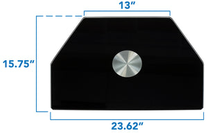 Mount-It! Glass TV Turntable Stand, Fits 32-55 Inch Screens – MI-836B