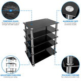 A/V Five-Tier Media Component Shelves | MI-8671