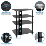 Four Tiered A/V Component TV Stand | MI-867