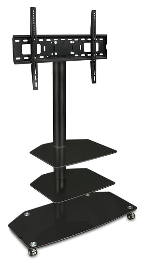 Mount-It! Professional Three Tiered Glass Shelving w/ TV Mount - MI-870 - Mount-It!