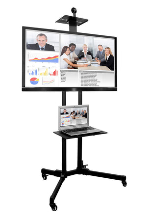 Mount-It! Adjustable Mobile TV Cart & Shelf - MI-876 - Mount-It!