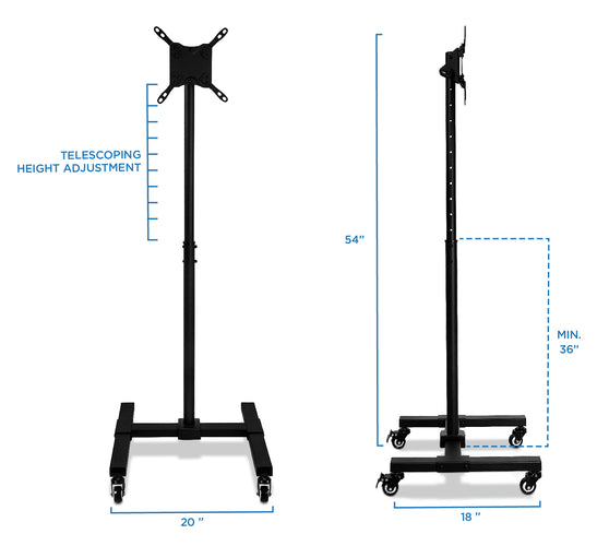 Adjustable Mobile TV Stand | MI-879 2