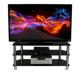 Mount-It! Three Tempered Glass Shelf TV Stand - MI-880 - Mount-It!