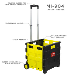 Mount-It! Rolling Collapsible Utility Cart - MI-904 - Mount-It!