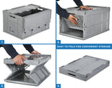 Mount-It! Collapsible Plastic Storage Crate - MI-908 - Mount-It!