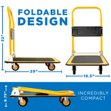 Foldable Flatbed with Swivel Wheels | MI-920