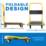 Heavy Duty Foldable Flatbed with Swivel Wheels | MI-921