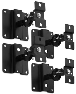 Mount-It! Heavy Duty Universal Speaker Mounts for Walls/Ceilings - Black - MI-SB03x2 - Mount-It!
