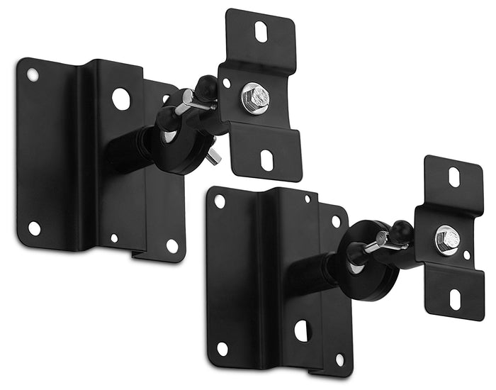 Mount-It! Heavy Duty Universal Speaker Mounts for Walls/Ceiling - Black - MI-SB03