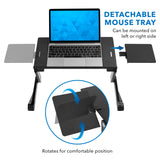 Laptop Tray w/ Cooling Fan & Mouse Pad | MI-7211