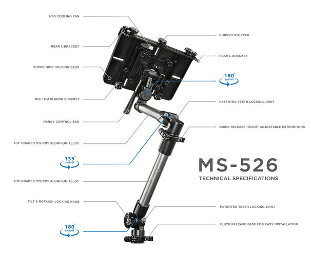 Vehicle Laptop & Tablet Mount | MI-526 2