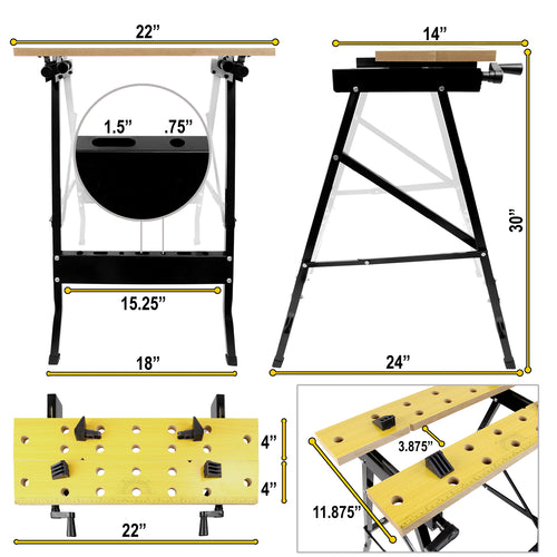 Portable Workbench with Clamps | WI-1001 2