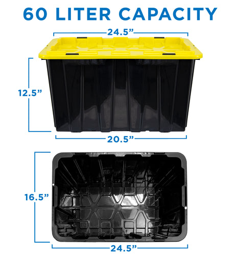 Heavy-Duty Plastic Storage Bins, Set of 3 | WI-3001 2