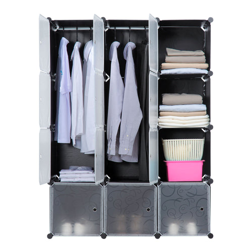 Portable Clothes Closet Rack - 12 Cubes 2