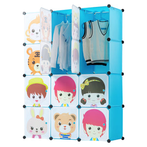 Children's Portable Clothes Closet Rack