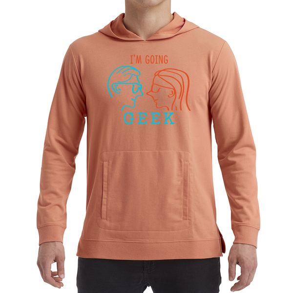 I'm Going Geek Silhouette Color Logo Unisex Light Terry Hoodie