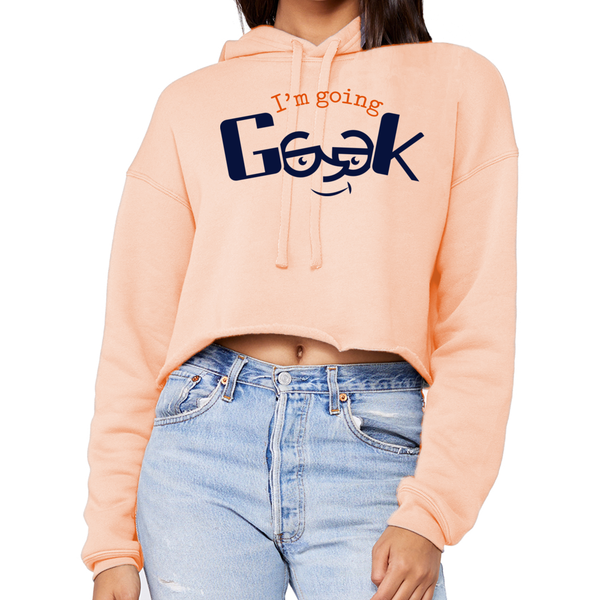 I'm Going Geek Color Logo Women's Cropped Hoodie
