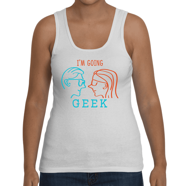 I'm Going Geek Silhouette Logo Women's Tank Top