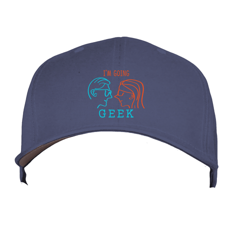 I'm Going Geek Silhouette Logo Flex Fit Hat