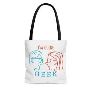 I'm Going Geek Silhouette AOP Tote Bag