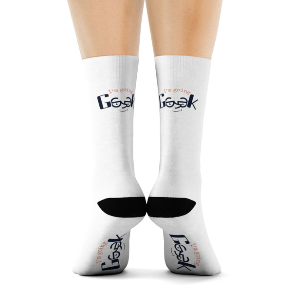 I'm Going Geek Color Logo Crew Socks