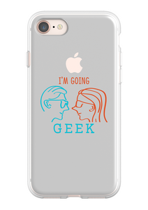 I'm Going Geek Silhouette Logo IPhone 8 Flexi Case