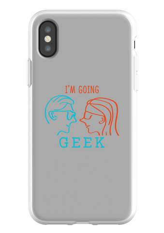 I'm Going Geek Silhouette Logo IPhone X Flexi Case