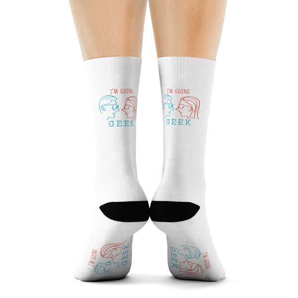 I'm Going Geek  Silhouette Crew Socks