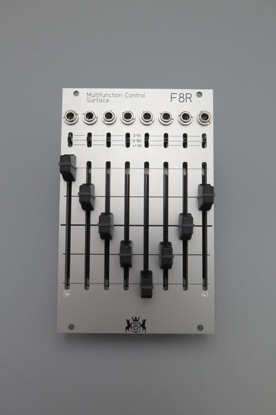 F8R 8 Channel Fader Bank with CV, I2C, and MIDI