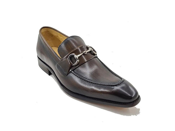 Carrucci Signature Buckle Loafer Chestnut