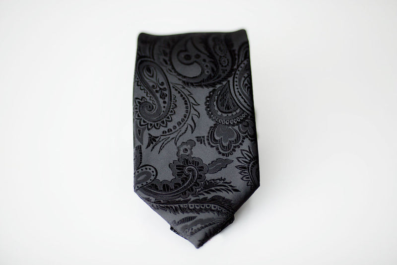 black paisley tie for men