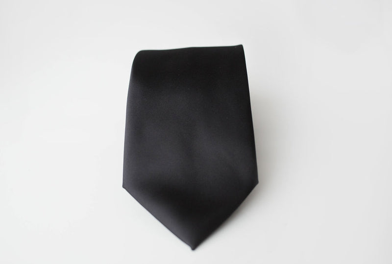 black satin tie for men