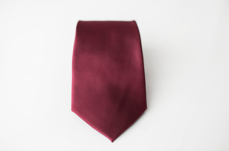 burgundy tie for men