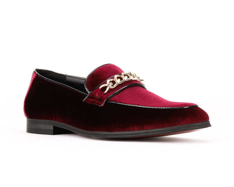 MENS BURGUNDY SUEDE LOAFER