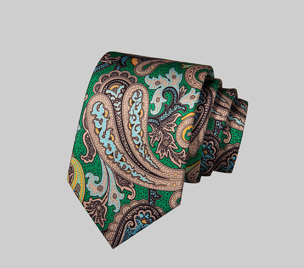 MULTI COLOR PAISLEY SILK TIE 2