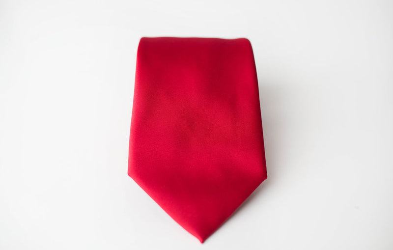 coral satin tie for men